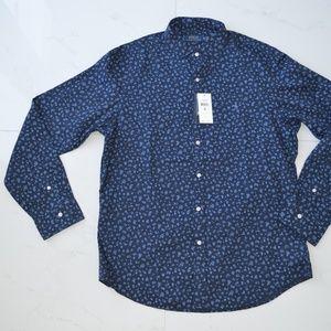 Polo Ralph Lauren Navy floral blue dress shirt new